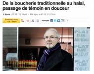 Le Bobard par euphémisation : « De la boucherie traditionnelle au halal, passage de témoin en douceur »
