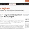 Jean-Dominique Merchet : « garde-à-vous devant l'opinion du général Dary »